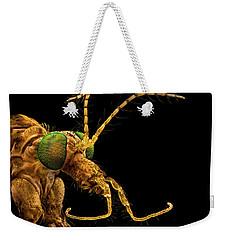 Green Eyed Crane Fly Weekender Tote Bag