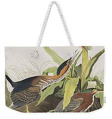 Green Heron Weekender Tote Bag by John James Audubon