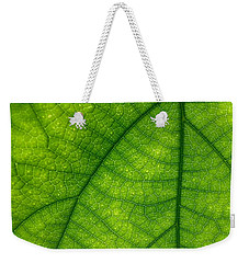 Green Leaf Macro Weekender Tote Bag