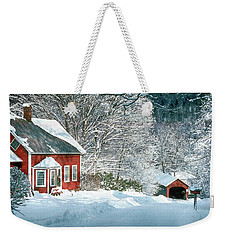 Weekender Tote Bag featuring the photograph Green River Bridge In Snow by Paul Miller