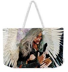 Weekender Tote Bag featuring the painting Guardian by Suzanne Silvir