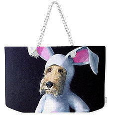 Weekender Tote Bag featuring the painting Gunther's Easter Parade by Diane Daigle