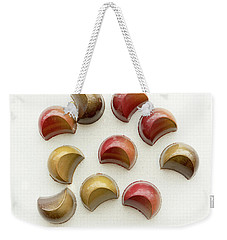 Weekender Tote Bag featuring the photograph Halfmoon Chocolates by Sabine Edrissi