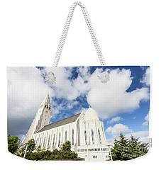 Hallgrimskirkja Church In Reykjavik Weekender Tote Bag