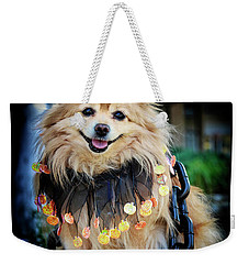 Halloween Dog Weekender Tote Bag