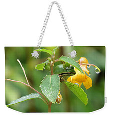 Weekender Tote Bag featuring the photograph Hanging In There by I'ina Van Lawick
