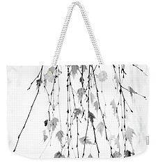 Weekender Tote Bag featuring the photograph Hanging by Rebecca Cozart