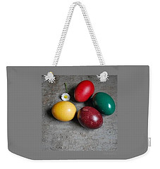 Happy Easter Weekender Tote Bag by Marija Djedovic