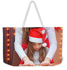 Happy Family Making Christmas Cookies Weekender Tote Bag