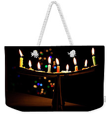 Weekender Tote Bag featuring the photograph Happy Holidays by Susan Stone