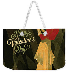 Happy Valentines Day Weekender Tote Bag by Jeff Burgess