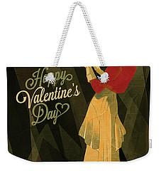 Weekender Tote Bag featuring the digital art Happy Valentines Day by Jeff Burgess