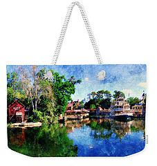 Weekender Tote Bag featuring the digital art Harper's Mill by Sandy MacGowan