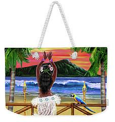 Hawaiian Sunset Hula Weekender Tote Bag by Glenn Holbrook