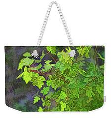 Hawthorn Leaves In Green Weekender Tote Bag