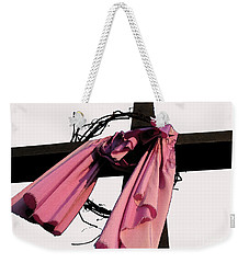 Weekender Tote Bag featuring the photograph He Is Risen by Douglas Stucky