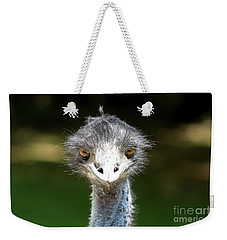 Head Of Ostrich Weekender Tote Bag by Patricia Hofmeester