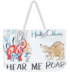 Hear Me Roar Weekender Tote Bag