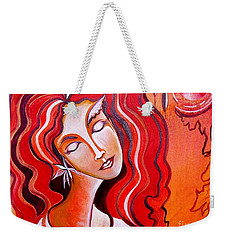 Heart Of Fire Weekender Tote Bag