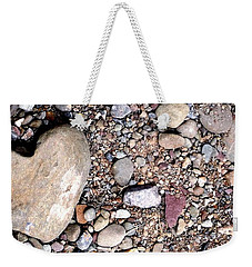 Heart Of Stone Weekender Tote Bag by Danielle R T Haney