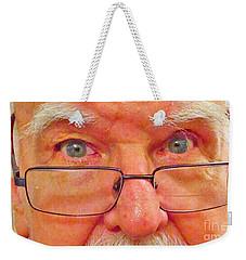 Hello Weekender Tote Bag by Fred Jinkins