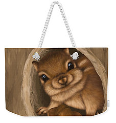 Weekender Tote Bag featuring the painting Hello by Veronica Minozzi