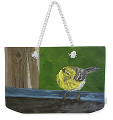 Weekender Tote Bag featuring the painting Hello by Wendy Shoults