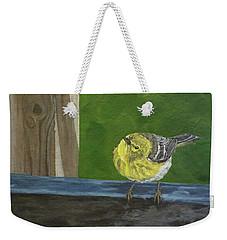 Hello Weekender Tote Bag by Wendy Shoults