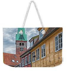 Weekender Tote Bag featuring the photograph Helsingor Narrow Street by Antony McAulay