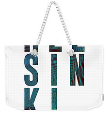 Helsinki, Finland - City Name Typography - Minimalist City Posters Weekender Tote Bag