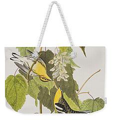 Hemlock Warbler Weekender Tote Bag by John James Audubon