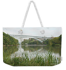 Henry Hudson Bridge Weekender Tote Bag by Cole Thompson