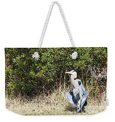 Weekender Tote Bag featuring the photograph Henry The Heron by Benanne Stiens