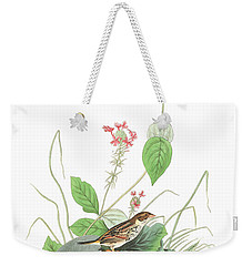 Henslow's Bunting  Weekender Tote Bag by John James Audubon