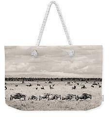 Herd Of Wildebeestes Weekender Tote Bag
