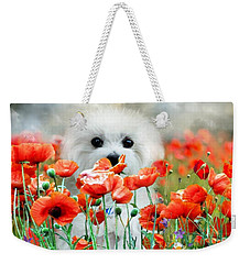 Hermes And Poppies Weekender Tote Bag