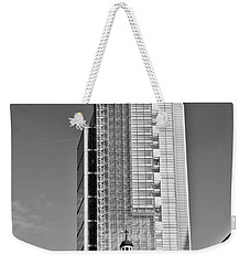 Heron Tower London Black And White Weekender Tote Bag by Gary Eason