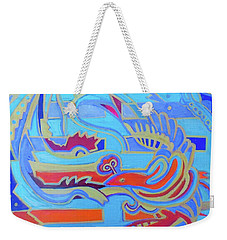 Weekender Tote Bag featuring the painting Hexagram 22-pi by Denise Weaver Ross