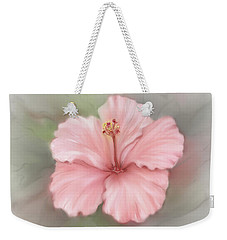Weekender Tote Bag featuring the painting Hibiscus  by Bonnie Willis