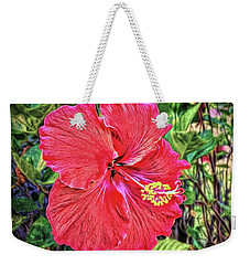 Weekender Tote Bag featuring the photograph Hibiscus Flower by Lewis Mann