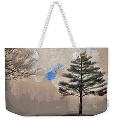 Weekender Tote Bag featuring the mixed media Hickory by Trish Tritz