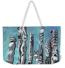 Hiding With Tikis  Weekender Tote Bag