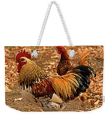 High-stepping Rooster Weekender Tote Bag