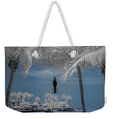 Weekender Tote Bag featuring the photograph Hillsboro Inlet Lighthouse by Louis Ferreira