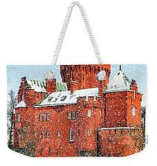 Hjularod Castle In The Snow Weekender Tote Bag