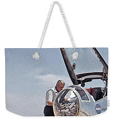 Hl-10 On Lakebed With B-52 Flyby Panel 1 Weekender Tote Bag by Celestial Images