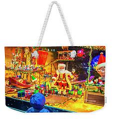 Holiday Widow Display In New York Weekender Tote Bag