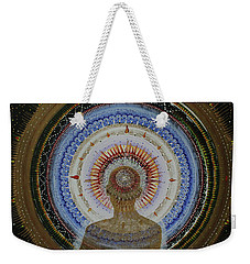 Weekender Tote Bag featuring the painting Holy Moly #10 by Kym Nicolas