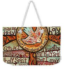 Holy Spirit Prayer By St. Augustine Weekender Tote Bag