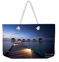 Weekender Tote Bag featuring the photograph Honeymooners Paradise by Hannes Cmarits